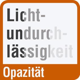 Piktogram mit der Aufschrift lichtundurchlässig