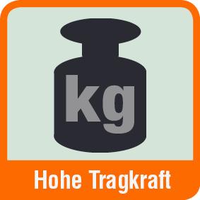Piktogramm mit der Aufschrift hohe Tragkraft