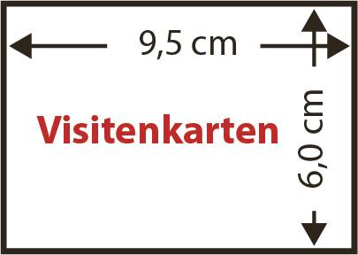 Schematische Darstellung von Sichthüllen in Visitenkartengröße