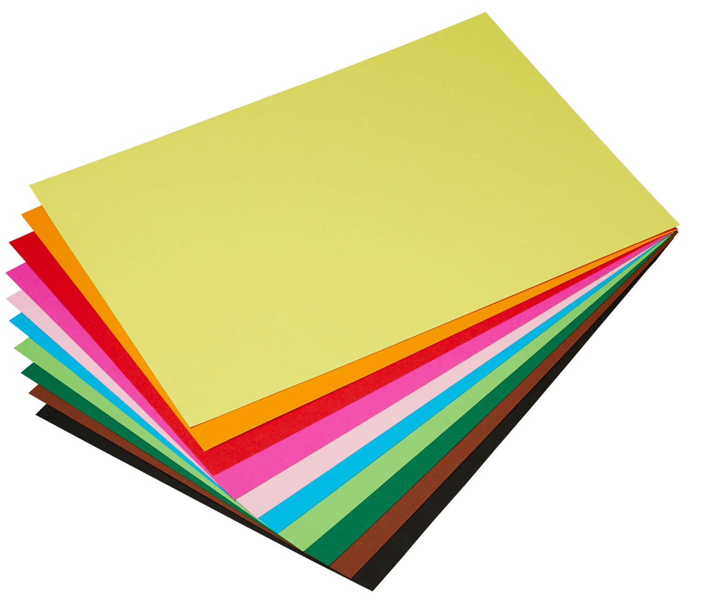 100 Blatt folia Tonpapier DIN A4 130 g//qm gold