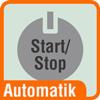Piktogramm Aktenvernichter mit einer Grafik der Start-Stop-Automatik