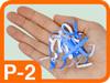 Grafik Sicherheitsstufe P-2 Hand mit Schnipseln