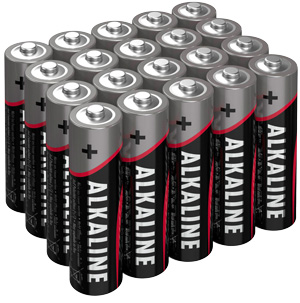 Alkaline-Batterien im Set unverpackt