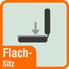 Piktogramm Flachsitz