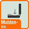Piktogramm Muldensitz
