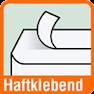 Piktogramm für Briefumschläge mit Haftklebung