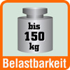 Piktogramm Belastbarkeit bis 150 kg