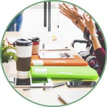 Anwendungsbeispiel auf einem Meetingtisch