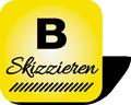 Piktogramm mit Aufschrift Buchstabenregister