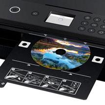 Blu-ray die mit Hilfe eines Druckers bedruckt wurde