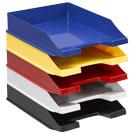Briefablagen aus Kunststoff in 5 verschiedenen Farben