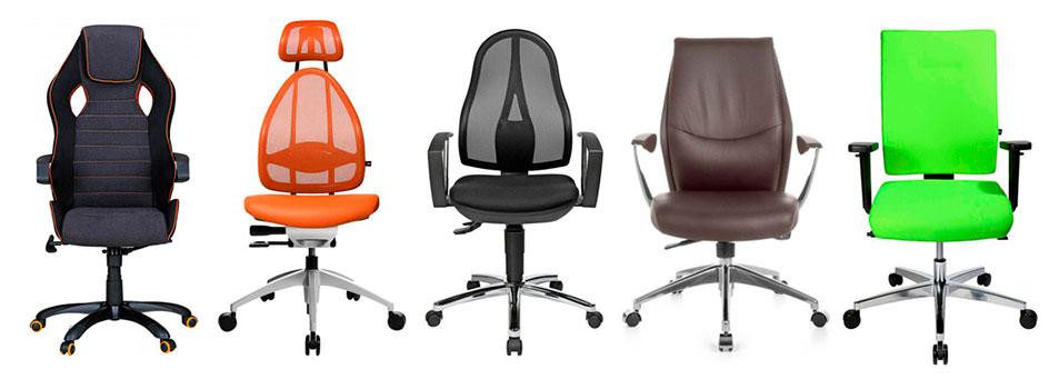 Diverse Bürostuhldesigns