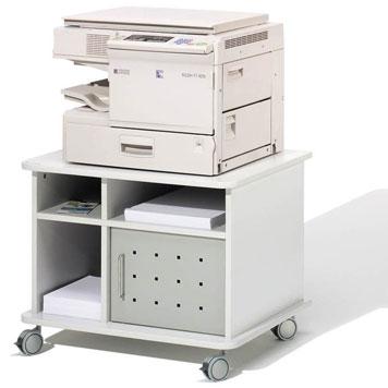 offener Bürowagen mit Drucker