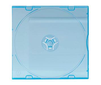Blaue CD-Hülle aus Kunststoff