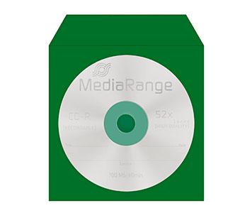 Grüne CD-Hülle aus Papier