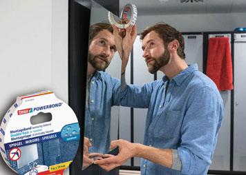 Aufhängen eines Spiegels mit Doppelseitigem Klebeband