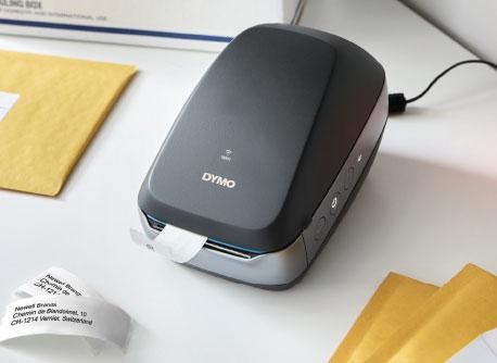Etikettendrucker auf Schreibtisch