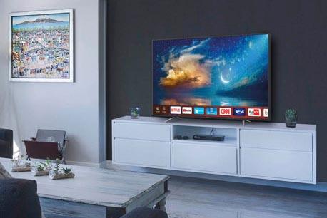Smart-TV in einem modernen Wohnzimmer