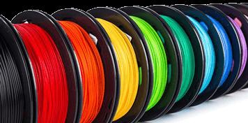 verschiedenfarbige Filament-Rollen