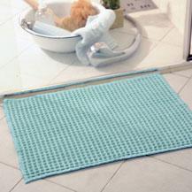 Anwendungsbeispiel einer Fußmatte im Bad