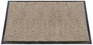 Eine Fußmatte, die aus synthetischen fasern gefretigt wurde