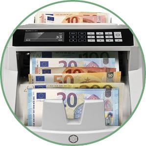Maschine zählt Geldscheine