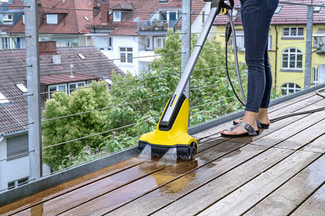 Terrasse reinigen mit einem Hochdruckreiniger