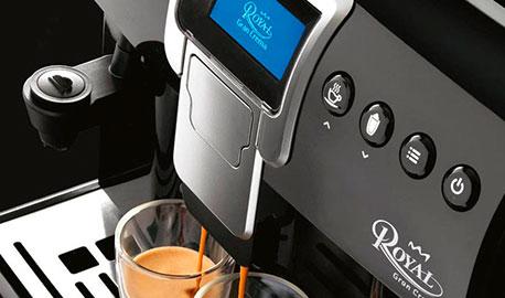 Detailansicht auf Kaffee-Vollautomat