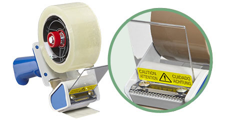 Klebebandroller mit Sicherheitsmesser