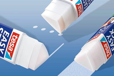 Papier kleben mit dem dreieckigen EasyStic von Tesa