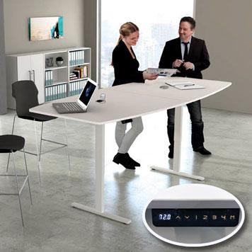 Elektrisch höhenverstellbarer Konferenztisch