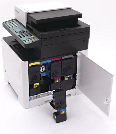 Tonerwechsel bei einem Kyocera-Drucker