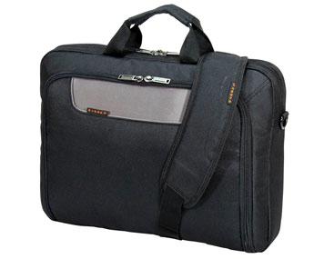 Laptoptasche aus Textilgewebe mit Tragegriffen und Schultergurt
