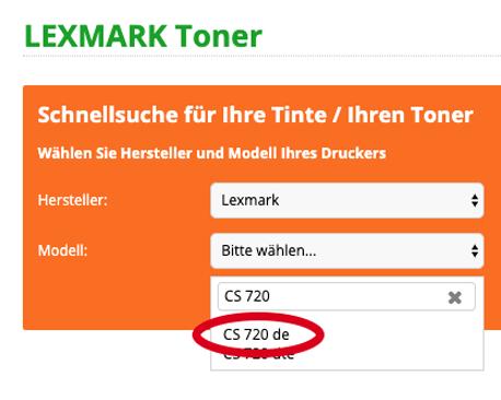 Unsere Toner-Schnellsuche für Lexmark-Geräte