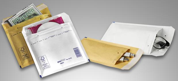 CDs, USB-Sticks oder empfindliche Gegenstände mit Luftpolsterversandtaschen versenden