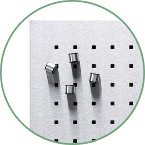Magenettafel aus Metall in runder Klinke