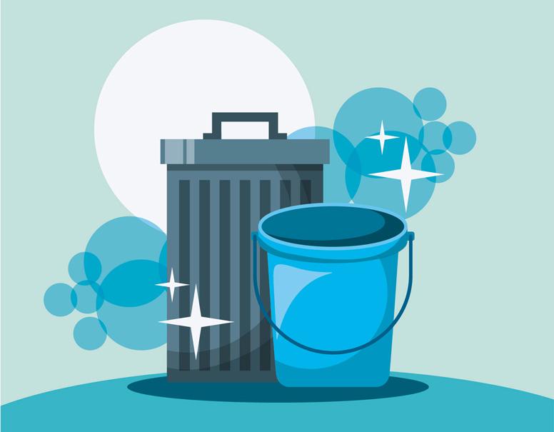 Mülleimer sauber halten und reinigen