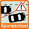 Spurwechsel Symbol