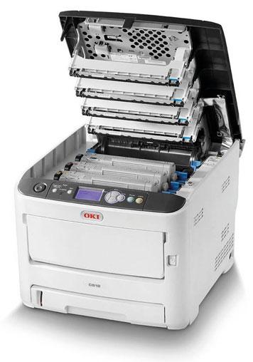Tonerwechsel bei einem OKI Laserdrucker