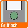 Piktogramm für Ordner mit Griffloch