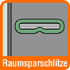 Piktogramm für Ordner mit Raumsparschlitzen