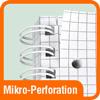 Piktogramm mit Aufschrift Mikroperforation