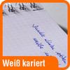 Piktogramm mit Aufschrift weiß-kariert