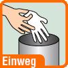 Piktogramm Einweghandschuhe