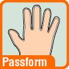 Piktogramm Handschuhpassform