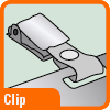 Piktogramm für Namensschilder mit Clip