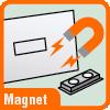 Piktogramm für Namensschilder mit Magnet