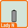 Piktogramm Lady N Batterie