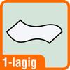 Piktogramm für 1-lagige Papierhandtücher