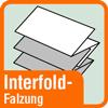 Piktogramm mit der Aufschrift Interfoldfalzung